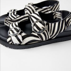Cute flat animal print sandal...